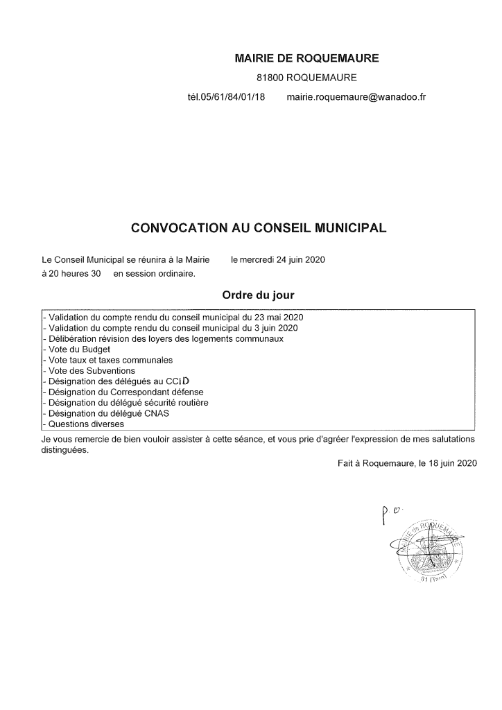 Convocation CM-1